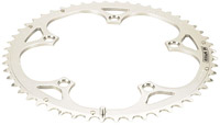 Campagnolo Double 5-Bolt/5-Arm Chainrings - Silver, Chorus 8/9 speed 53T chainring for use with 39T inner chainring 135mm BCD
