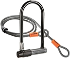 Kryptonite KryptoLok series 2 STD U-Lock with 4-foot Flex Cable and Bracket: 4 x 9""