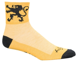 SockGuy Classics Socks Lion of Flanders Yellow SockGuy Lion of Flanders Yellow L/XL