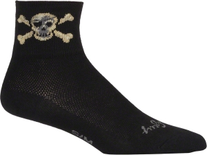 SockGuy Classics Socks Pirate SockGuy Pirate Black L/XL