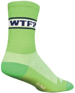 SockGuy Crew Cuff Socks WTF SockGuy WTF 6 Crew Green L/XL