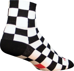 SockGuy Classics Socks Ridgemont SockGuy Ridgemont L/XL Black/White Check
