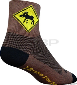 SockGuy Classics Socks Moose SockGuy Moose L/XL Brown
