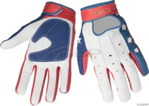 Knog Kneevel Gloves Knog Kneevel Leather Full Finger Glove LG Stars and Bars