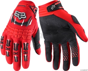 Fox Racing Men's Dirtpaw Red Gloves Fox Dirtpaw Bright Red MD