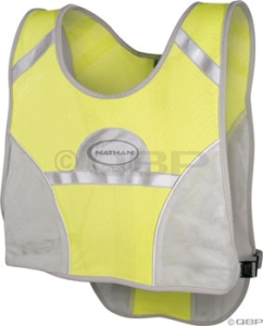 Nathan LED Cyclist Vest Yellow/Gray One Size Nathan LED Cyclist Vest Yellow/Gray One Size