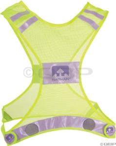 Nathan Reflective Streak Vest Neon Yellow L/XL Nathan Reflective Streak Vest Neon Yellow L/XL