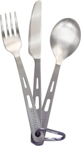 Optimus Titanium Cutlery Set 3Piece Optimus Titanium Cutlery Set 3Piece