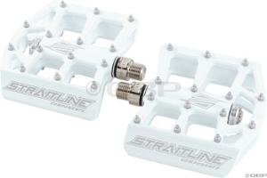 Straitline Platform Pedal 9/16, White Straitline Platform Pedal 9/16, White