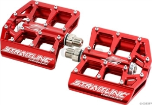 Straitline Platform Pedal 9/16, Red Straitline Platform Pedal 9/16, Red