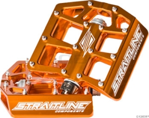 Straitline Platform Pedal 9/16, Orange Straitline Platform Pedal 9/16, Orange