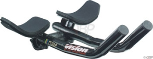 Vision TT ClipOn Aero Bars Vision TT Clipon Bars 26.0 x 270mm Black