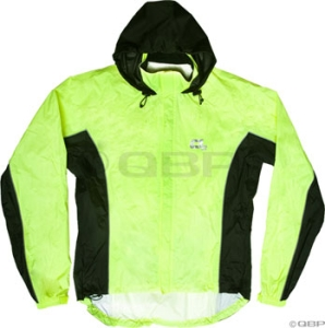 O2 3Flow with Hood Rain Jackets O2 3Flow Jacket with Hood, HiVis Yellow LG