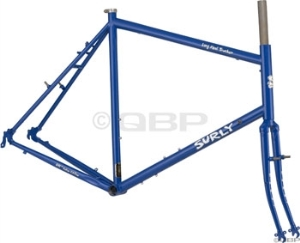 Surly Long Haul Trucker Blue Velvet 26 Touring Frame Sets Surly Long Haul Trucker Frameset 62cm 26 Wheel, Blue Velvet