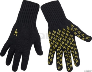 IBEX Knitty Gritty Gloves Ibex Knitty Gritty MDLG Wool Knit Glove Black