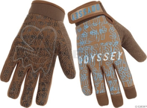 Odyssey Power Gloves Brown/Blue Odyssey Large Brown / Blue Power Gloves