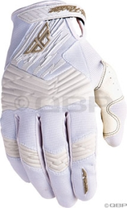 Fly Racing F16 Gloves White Fly F16 Glove White Size 8