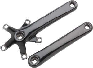 Dimension Cyclocross Crank Arm Sets Dimension 170mm Cross Crank Arm Set 110/74 Black, Includes Bolts