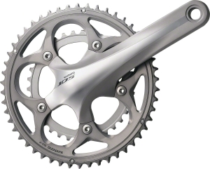 Shimano 105 5700 Double Cranksets Shimano 105 5750 Double 50/34 Crankset, 175mm, Silver