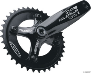 TruVativ Holzfeller OCT DH Cranksets TruVativ Holzfeller OCT 1.1 DH 170mm 38t Mirror Black Crankset