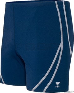 TYR Square Leg Swim Suit TYR Men's Square Leg Suit Navy/White Size 38