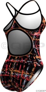 TYR Diamondback Swimsuit TYR Funkytown Diamondback Orange 38