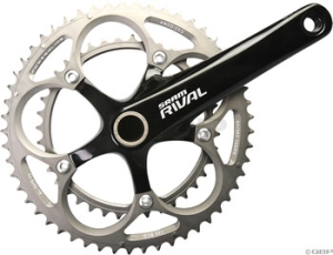 SRAM Rival Compact Crank/Bottom Brackets Sets SRAM Rival Black GXP 68mm 165mm 3450 Crankset