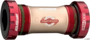 FSA Full Speed Ahead BB8000 Ceramic Bottom Brackets FSA BB8000 Ceramic MegaExo BB Cartridge Sealed English Red Cups