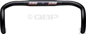 FSA Full Speed Ahead Gossamer New Ergo Drop Handlebars FSA Gossamer 44cm 31.8 New Ergo Alloy Black Handlebar