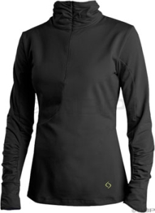 Moving Comfort Mobility Women's Jersey Moving Comfort Mobility 1/2 Zip Jersey Black XL
