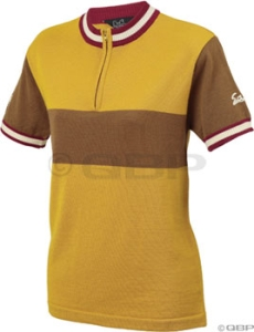 Salsa Women's Short Sleeve Wool Jerseys Salsa Women's Short Sleeve Wool Jersey Mustard/Earth LG
