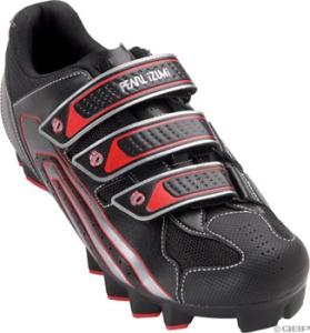 Pearl Izumi Men's Select Mountain Shoes Black/Red Pearl Izumi Men's Select MTB size 41.5 Black/Red