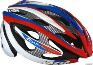 Lazer Helium Warrior Helmets Lazer Helium Warrior Series Helmet Red/White/Green MD/LG