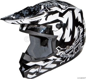 Fly Racing Kinetic Electric Helmet Fly Kinetic Electric Helmet Black/White SM 5556cm