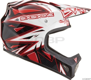 SixSixOne Evolution New Wave Helmets SixSixOne Evolution New Wave White/Black/Red XL