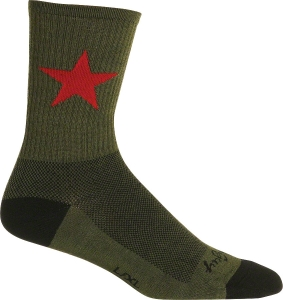 SockGuy Wool Socks Socks SockGuy Wool Red Star 6 Cuff S/M