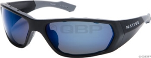 Native Endo Sunglasses Asphalt with Polarized Blue Reflex Gray Lens Native Endo Sunglasses Asphalt with Polarized Blue Reflex Gray Lens