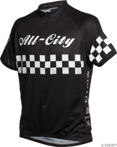 All-City Twin Six Short Sleeve Jersey: Black