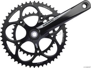 SRAM Apex Black w/White Logo 175mm 50-34 Crankset with GXP Bottom Bracket