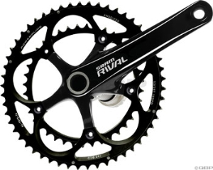 SRAM Rival Back 68mm 180mm 50-34 Black Rings Crankset with GXP Bottom Bracket