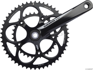 SRAM Apex 180mm White Logo  53-39 Black Rings Crankset with GXP Bottom Bracket