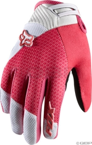 Fox Racing Women's Reflex Gel Full Finger Glove: Diva Pink