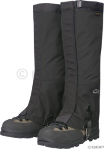 Outdoor Research Crocodiles Gaiters: Black - MD - Sizes 6-9