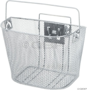 Dimension Mesh Basket with Quick Release Mount: Silver