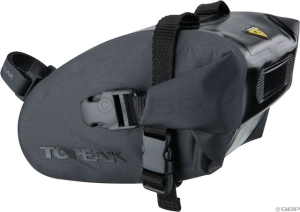 Topeak Wedge Dry Bag Strap-On Seat Bag: Black; LG