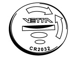 Vetta Computer Batteries and Battery Caps Head Unit Battery CR2032, 3 Volt for RT and V100 computers