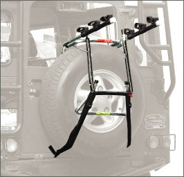 Allen Deluxe 3 Bike Spare Tire Mounted Carrier Model 303DB Allen Deluxe 3 Bike Spare Tire Mounted Carrier Model 303DB
