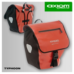 Axiom Typhoon Panniers Red / Black