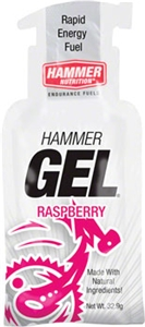 Hammer Gel Pouches Raspberry, Box of 12 Single Serve Packets