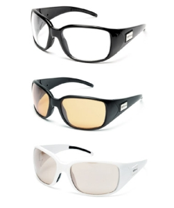 Buy Serfas Dezmo Sunglasses - Gloss Black Frame with Rose, Brown, Clear, and Rust Lenses (Sunglasses, Serfas Interchangeables Series, Serfas)
